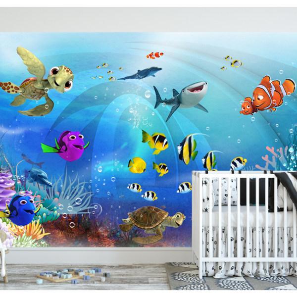 پوستر دیواری اتاق کودک طرح آکواریوم کد S15659712