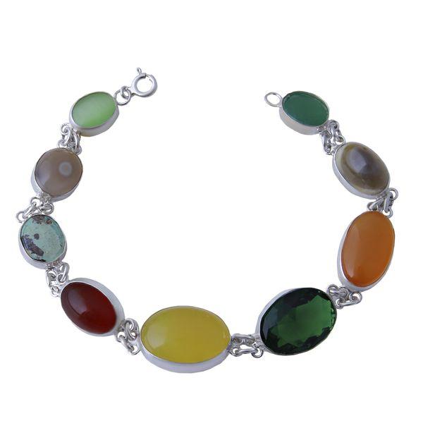 دستبند نقره زنانه بازرگانی میلادی کد DP_179