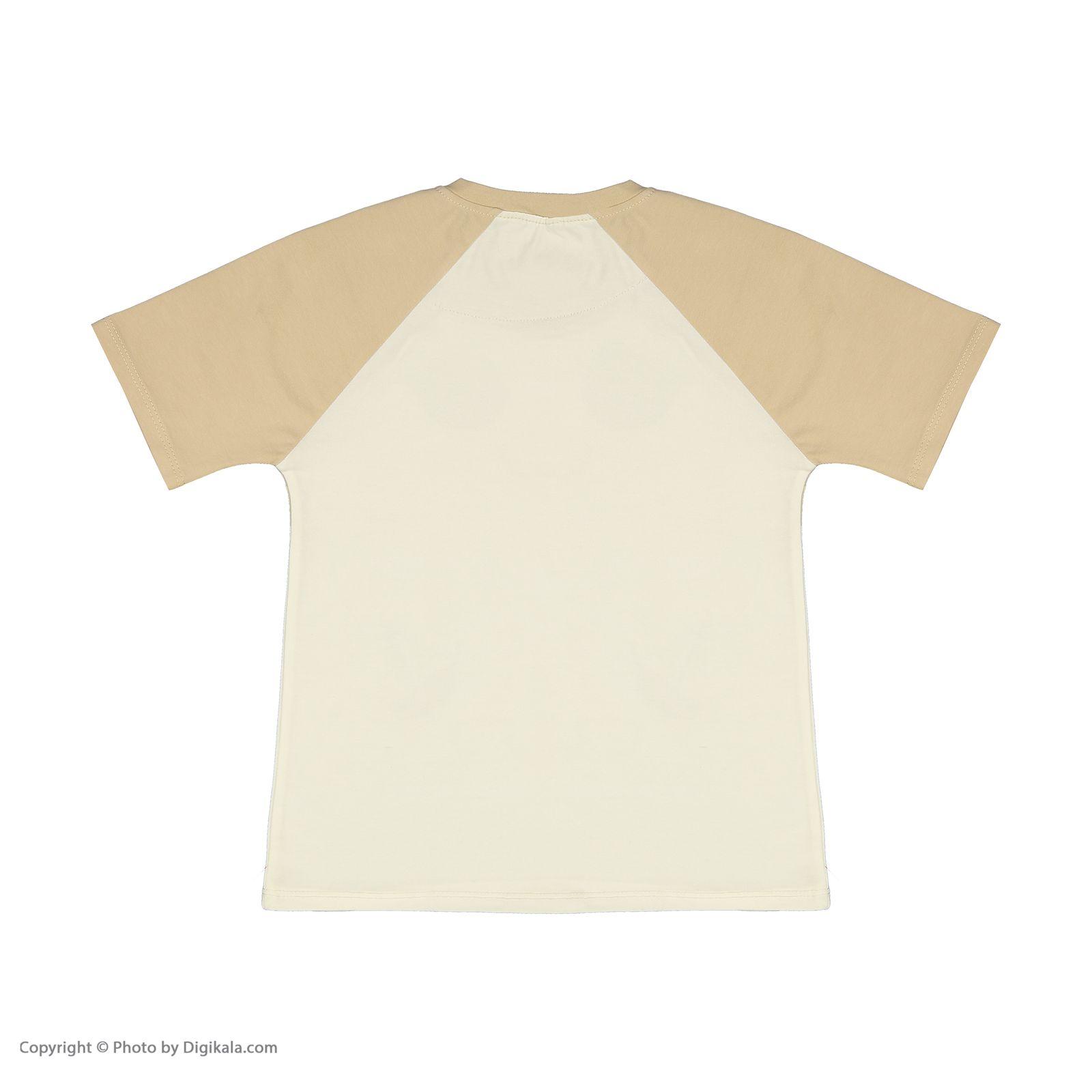 ست تی شرت و شلوارک راحتی پسرانه مادر مدل 2041107-07 main 1 3