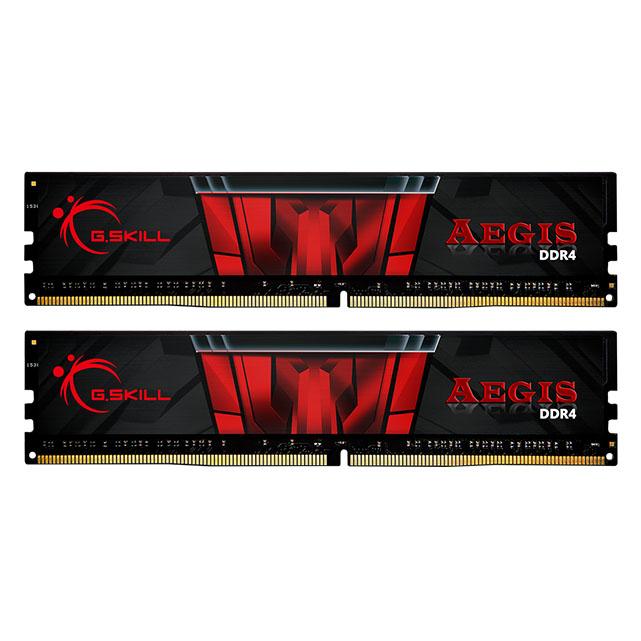 رم دسکتاپ DDR4 دو کاناله 3000 مگاهرتز CL16 جی اسکیل مدل Aegis ظرفیت 32 گیگابایت