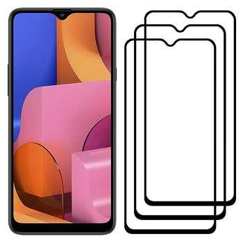 محافظ صفحه نمایش مدل FCG مناسب برای گوشی موبایل سامسونگ Galaxy A20s بسته سه عددی