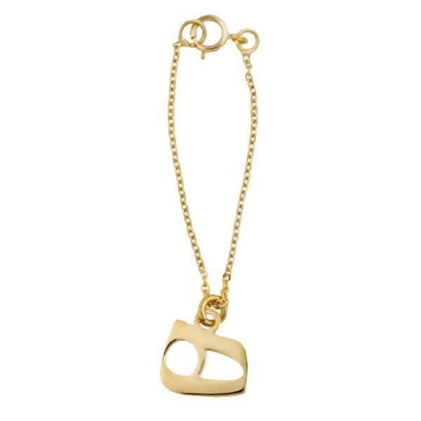 آویز ساعت طلا 18 عیار زنانه آمانژ طرح ه کد 1238D9162