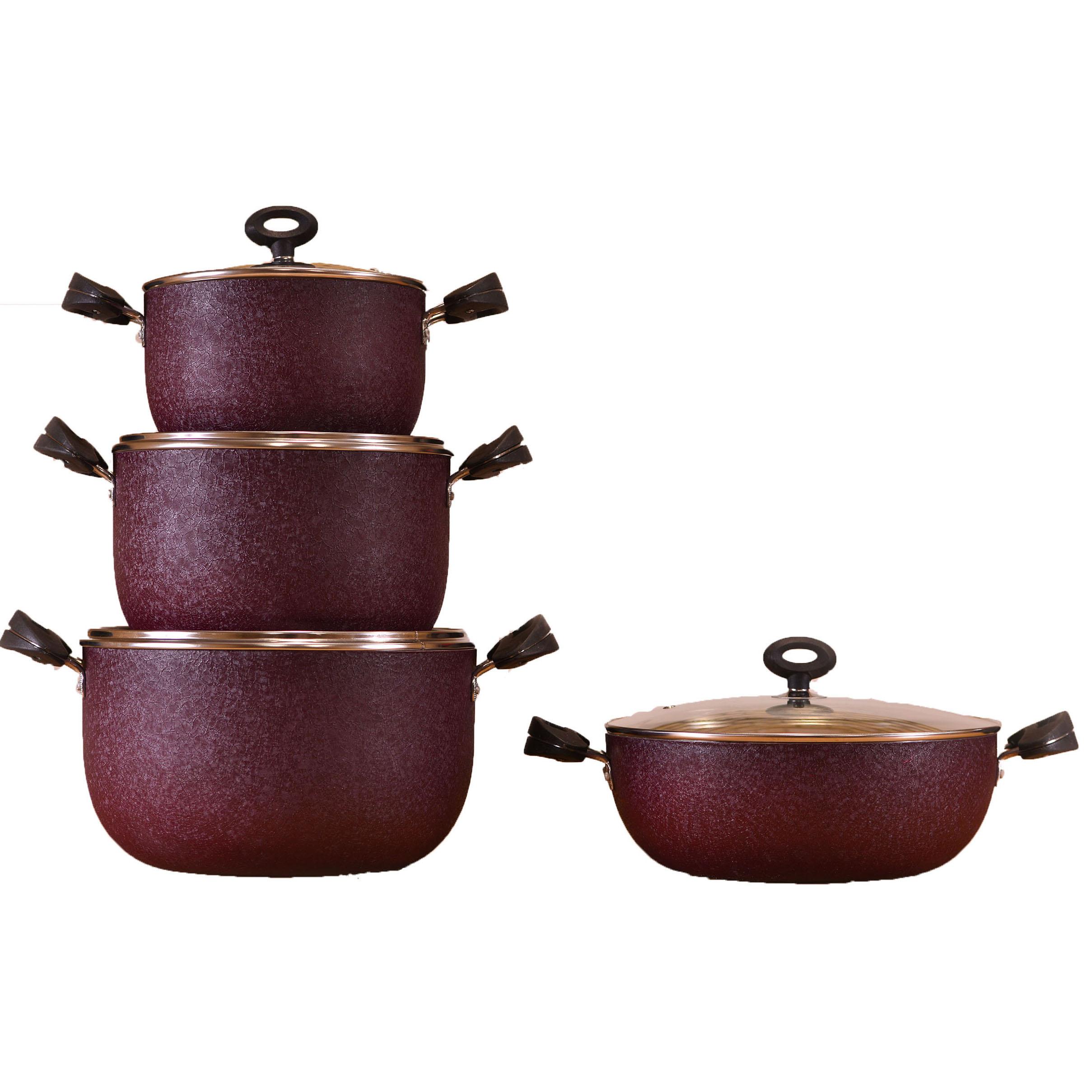 سرویس پخت و پز 7 پارچه ظرف سازان اسدیان مدل اولدوز
