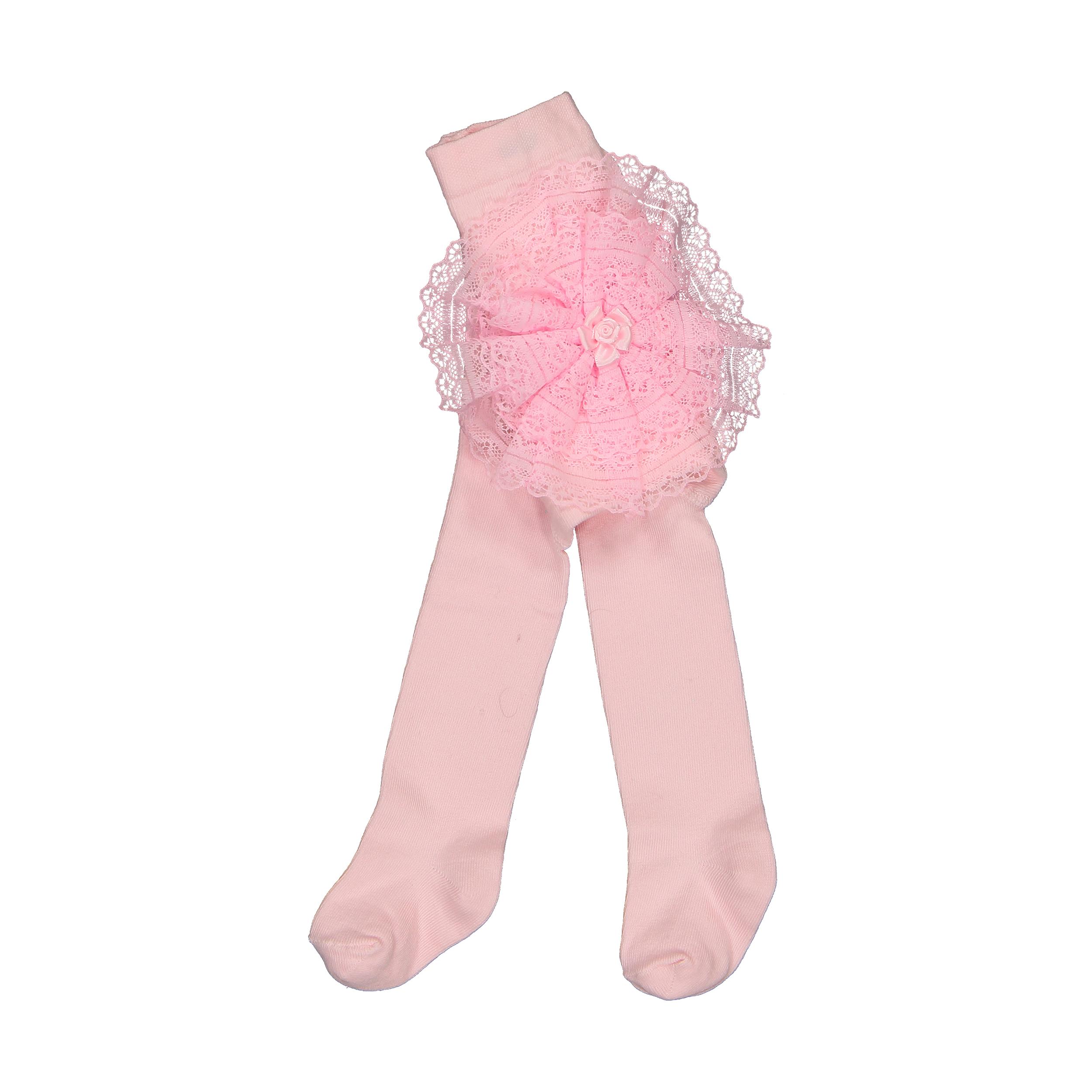 جوراب شلواری نوزادی دخترانه فیورلا کد 2012-6-3