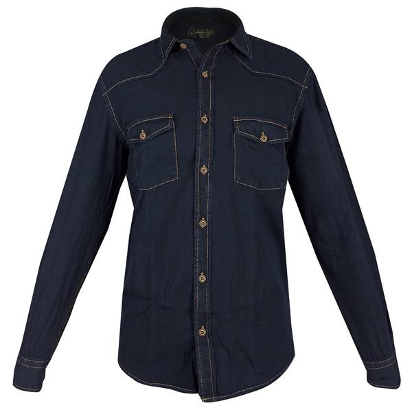 پیراهن آستین بلند مردانه پاتن جامه مدل 102121280519094 جین
