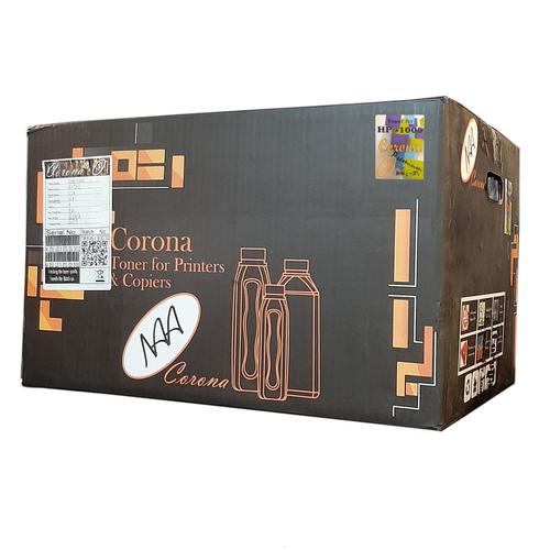 پودر شارژ مشکی 100 گرمی کرونا مدل 1005 Premium بسته 84 عددی