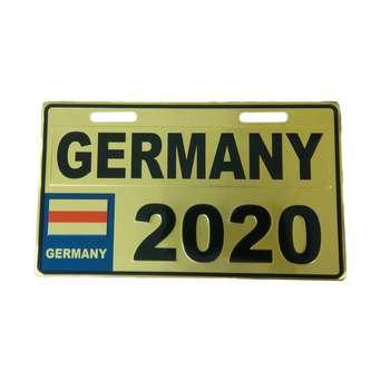 پلاک موتور سیکلت طرح آلمان مدل GLD-2020