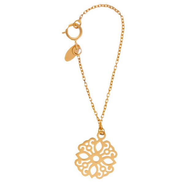 آویز ساعت طلا 18 عیار زنانه آمانژ مدل اسلیمی کد D9275