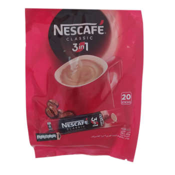 پودر قهوه فوری نسکافه بسته 20 عددی