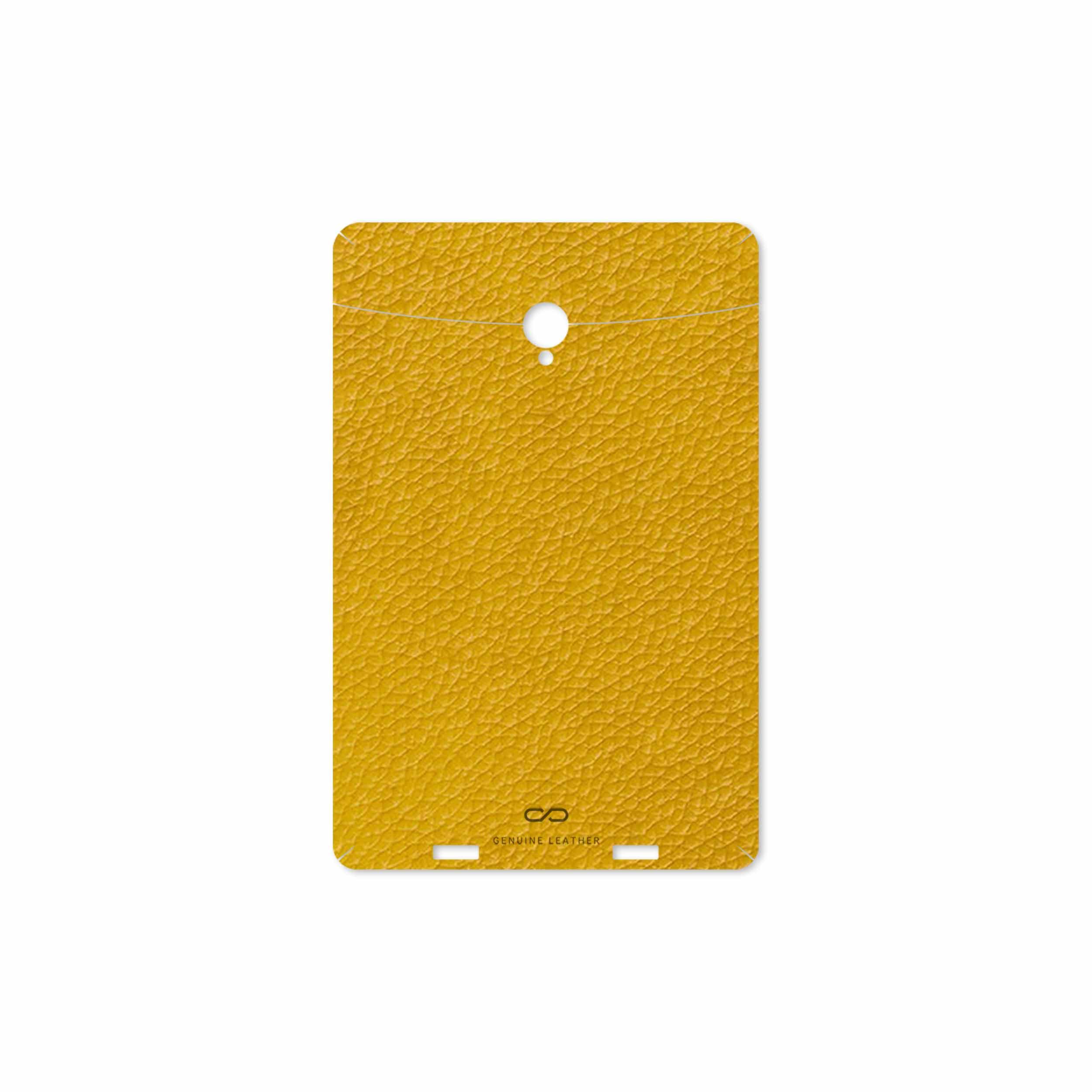 بررسی و خرید [با تخفیف]                                     برچسب پوششی ماهوت مدل Mustard-Leather مناسب برای تبلت وریکو Unipad                             اورجینال