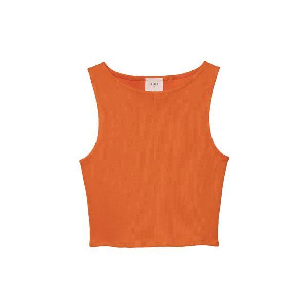 تاپ زنانه کوی مدل 390 رنگ نارنجی