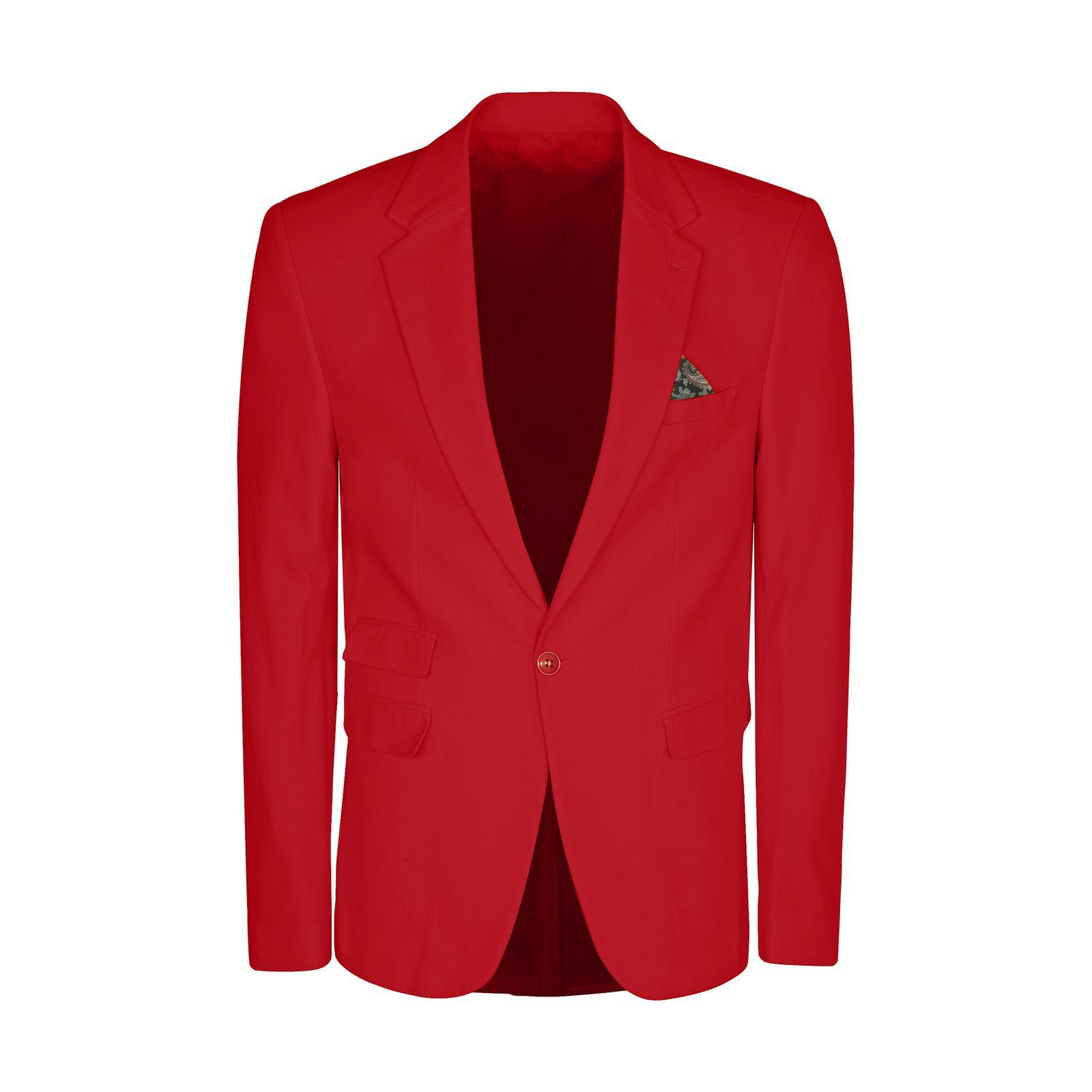 کت تک مردانه ان سی نو مدل جانسو رنگ قرمز -  - 4
