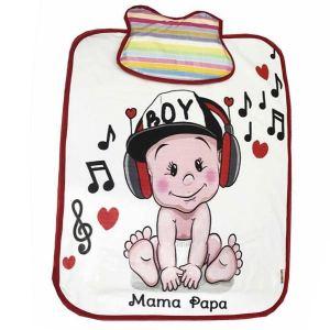 زیرانداز تعویض نوزاد ماما پاپا طرح نی نی شاد کد 231
