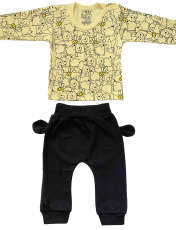 ست تی شرت و شلوار نوزادی طرح پو کد FF-084  -  - 2