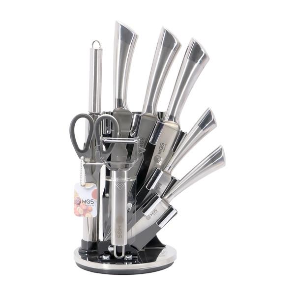 سرویس چاقو آشپزخانه 9 پارچه ام جی اس مدل 2230 MGS
