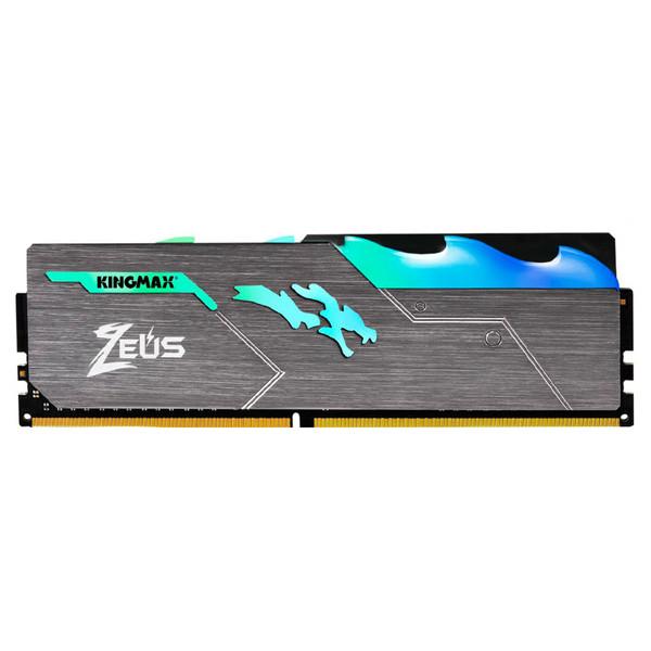 رم دسکتاپ DDR4 تک کاناله 3200 مگاهرتز CL17 کینگ مکس مدل Zeus Dragon RGB ظرفیت 16 گیگابایت