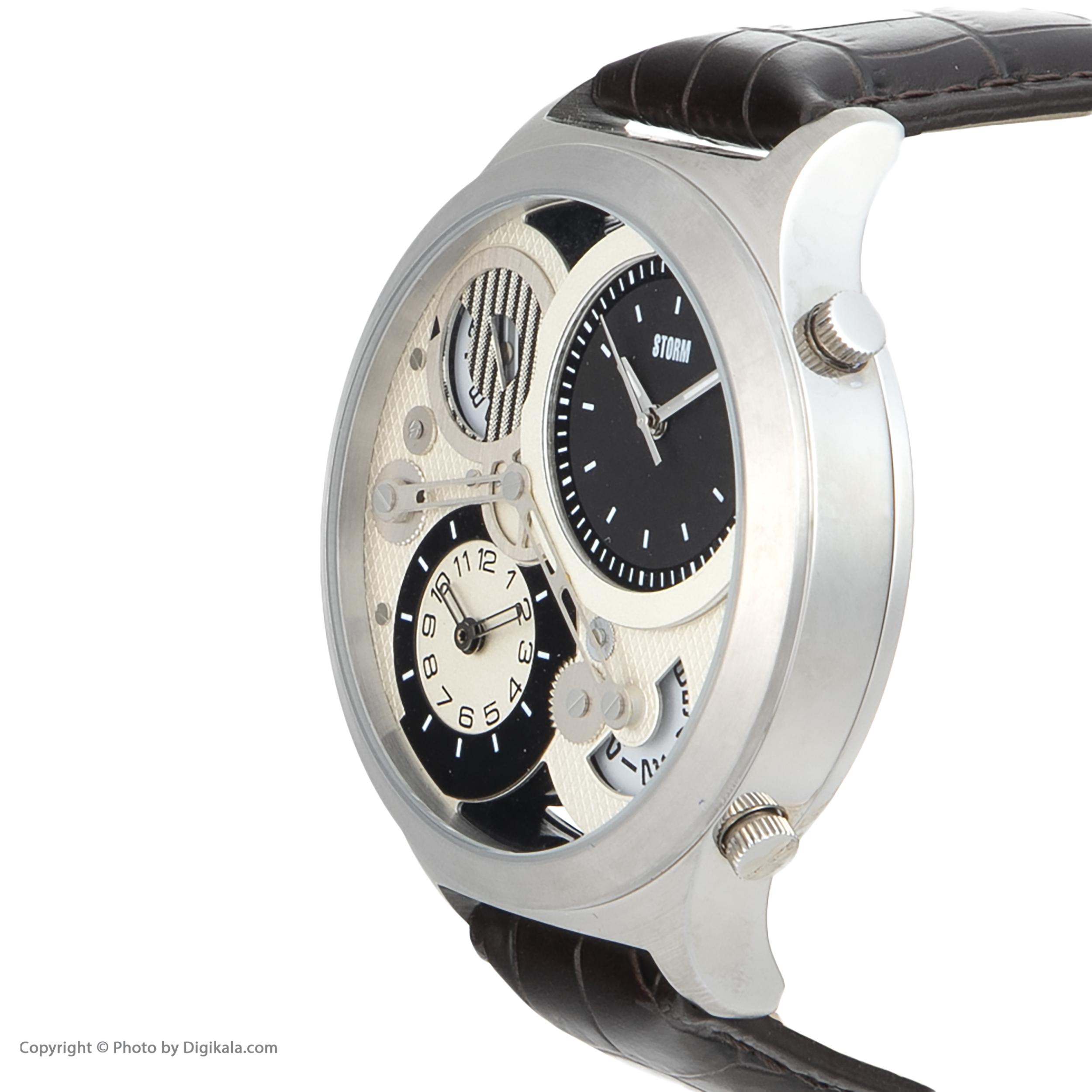 ساعت مچی عقربه ای مردانه استورم مدل ST 47186-S