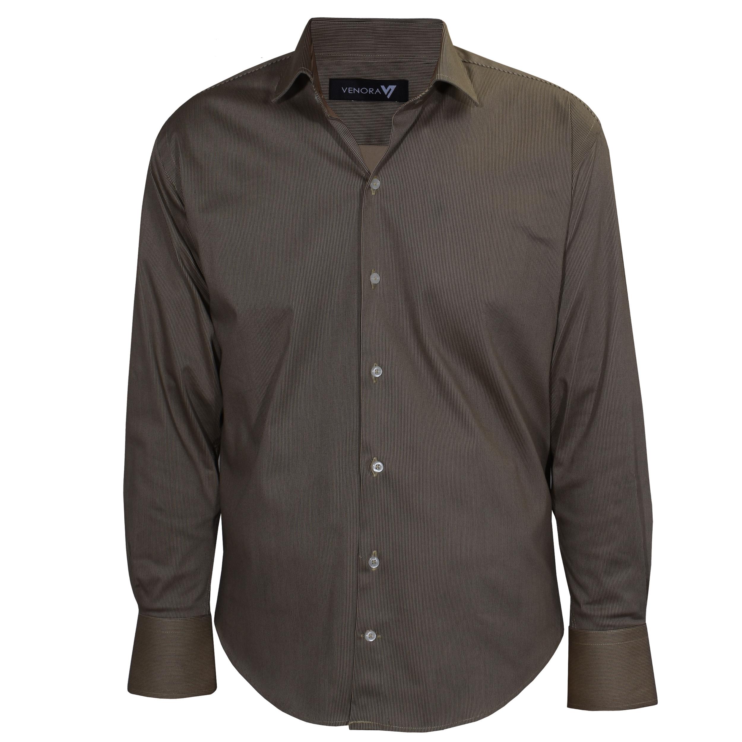 پیراهن آستین بلند مردانه ونورا کد NB222-COL1