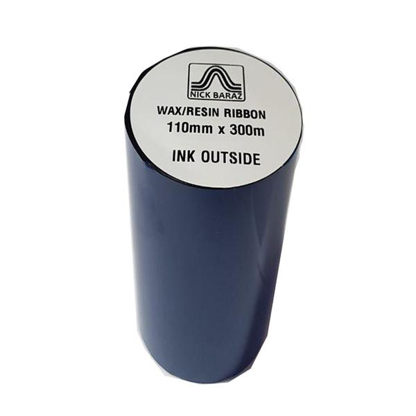 ریبون پرینتر لیبل زن نیک براز مدل WAX/RESIN 110mm x 300m