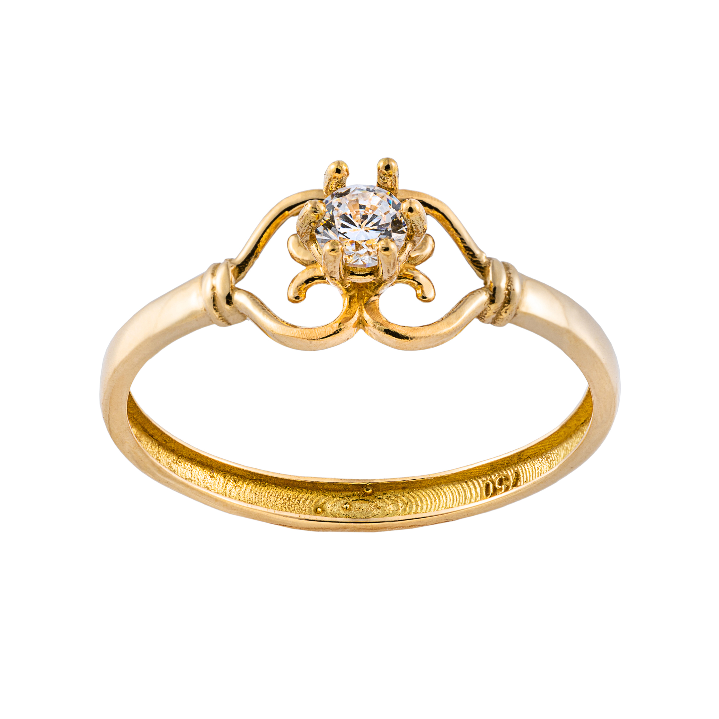 انگشتر طلا 18 عیار زنانه جواهری سون مدل 2729