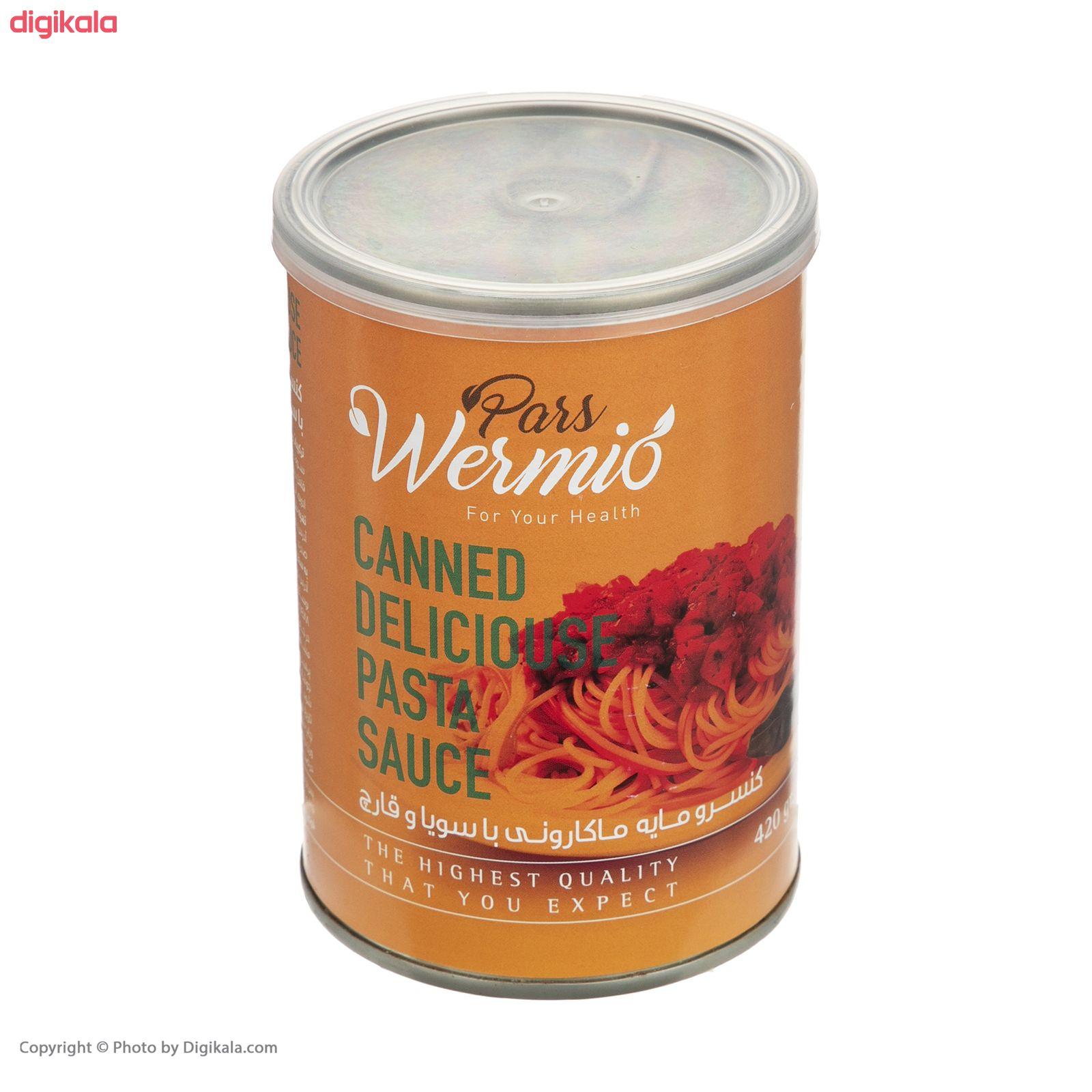 کنسرو مایه ماکارونی با سویا و قارچ پارس ورمیو - 420 گرم main 1 1