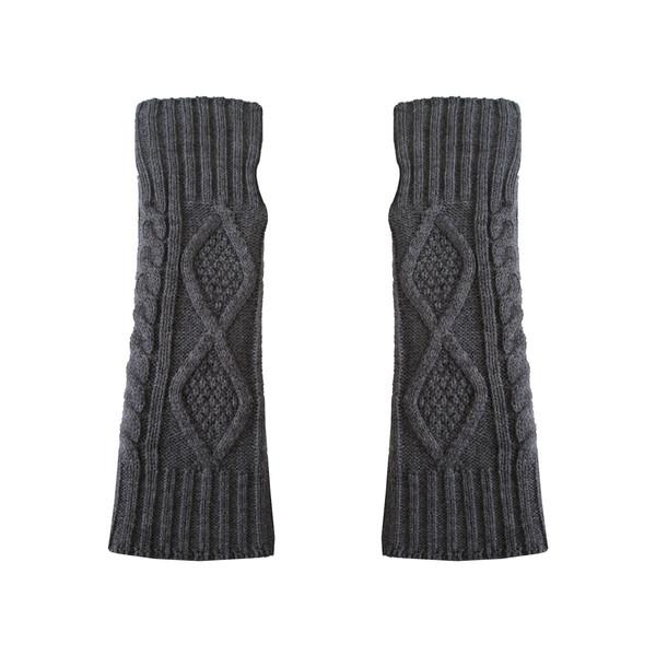 ساق دست بافتنی زنانه مدل LOZ کد 30758 رنگ خاکستری
