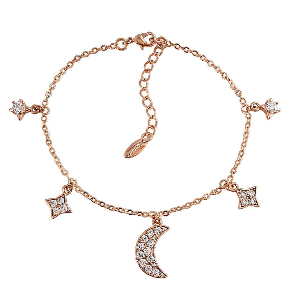 دستبند زنانه ژوپینگ طرح ماه و ستاره کد XP239