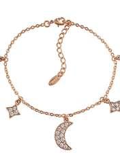 دستبند زنانه ژوپینگ طرح ماه و ستاره کد XP239 -  - 1