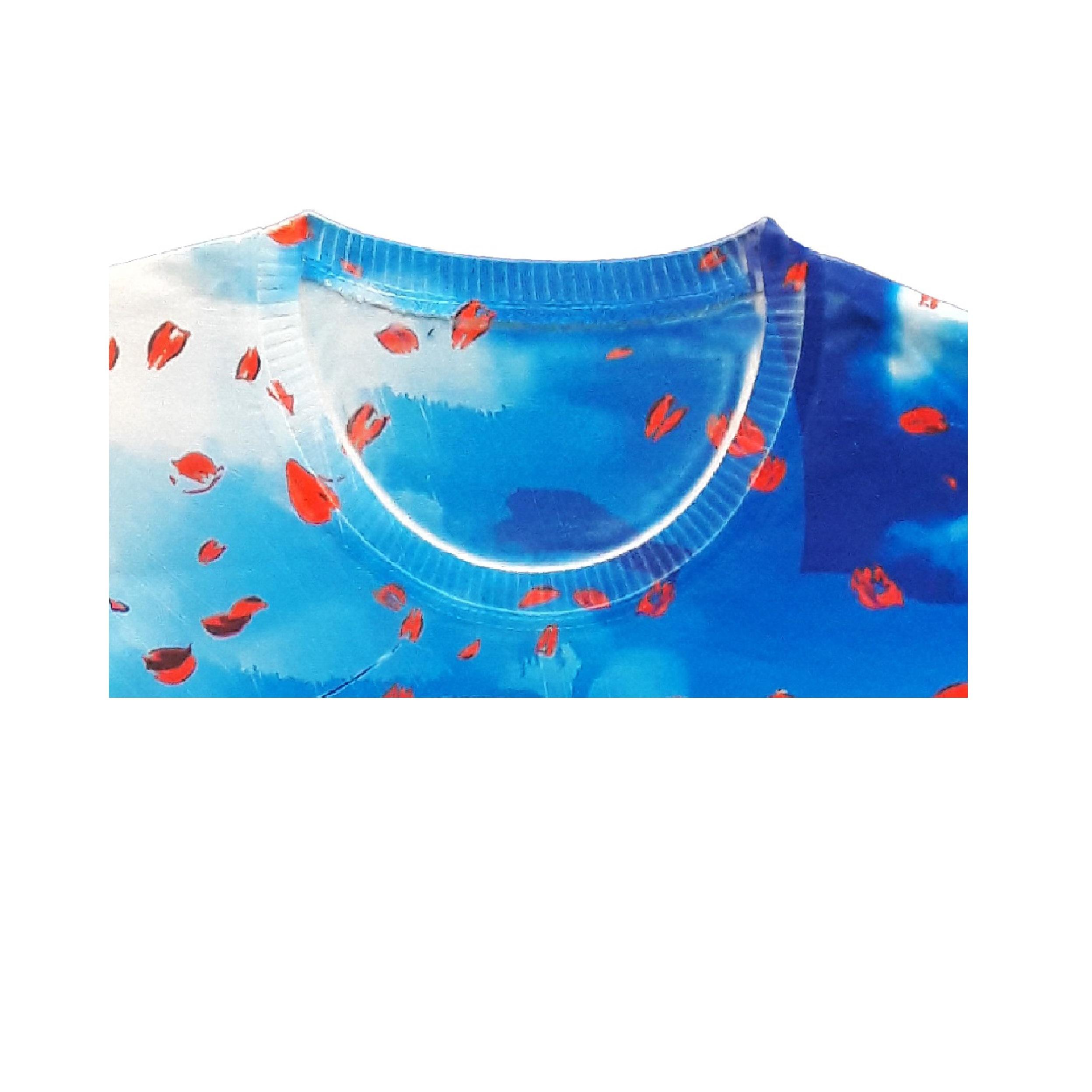 خرید                                     تی شرت دخترانه مدل دختر کفشدوزکی کد D DZK325