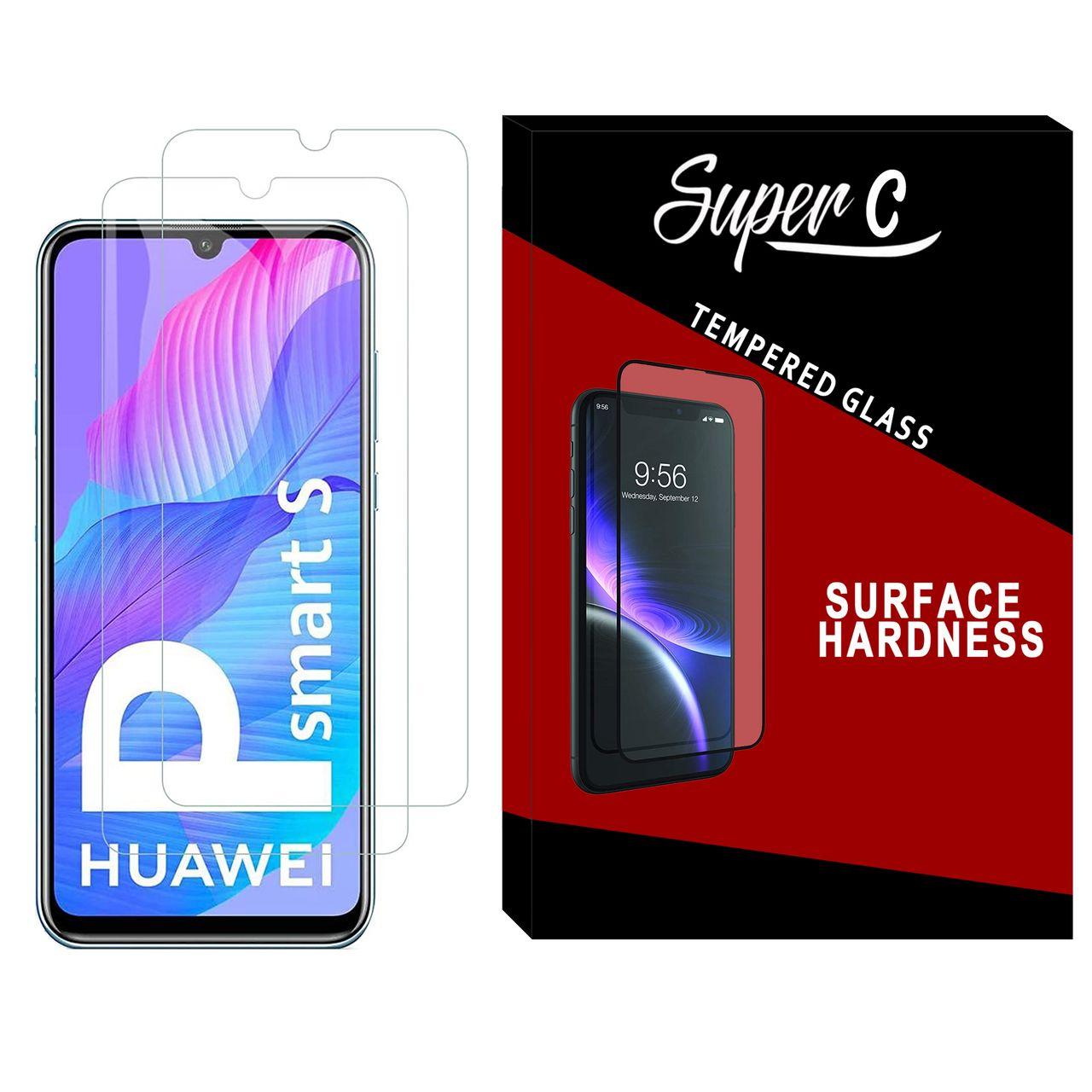 محافظ صفحه نمایش سوپر سی مدل SD-02 مناسب برای گوشی موبایل هواوی Y8p بسته دو عددی
