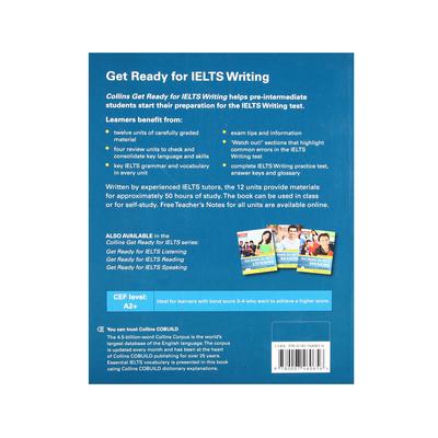 کتاب Get Ready for IELTS Writing اثر Fiona Aish And Jo Tomlinson انتشارات الوندپویان