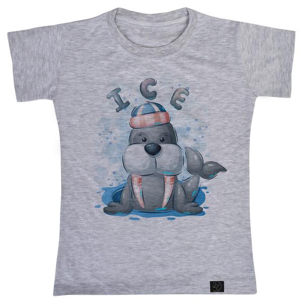 تی شرت پسرانه 27 طرح ICE کد V17