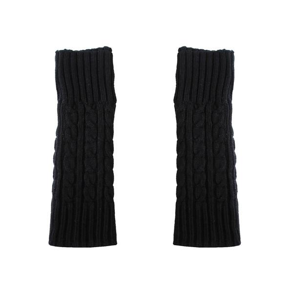 ساق دست بافتنی زنانه مدل MAR کد 30763 رنگ مشکی
