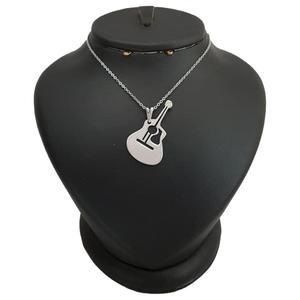 گردنبند نقره مردانه ترمه 1 طرح گیتار کد mas 00391