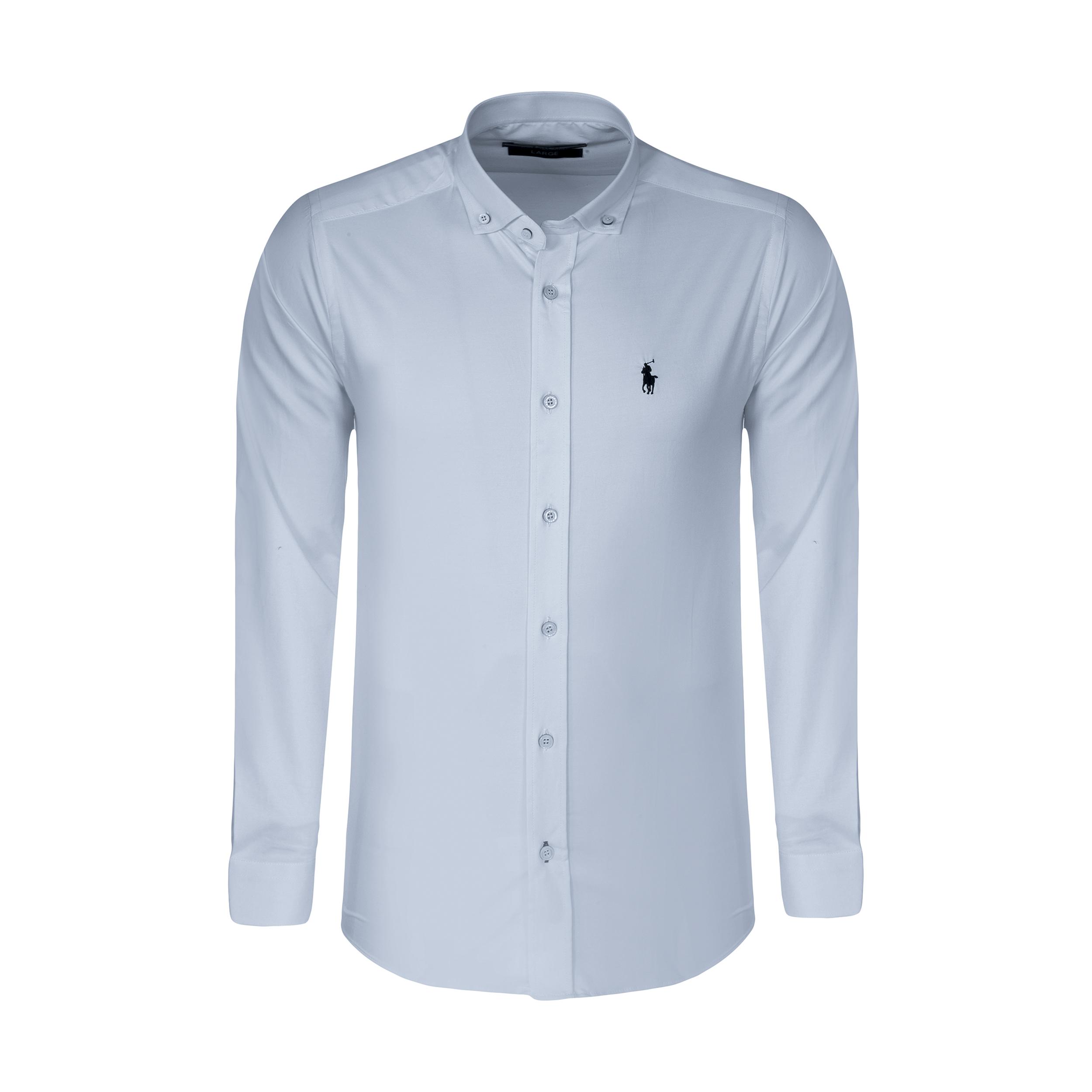 پیراهن آستین بلند مردانه پولو مدل MM010
