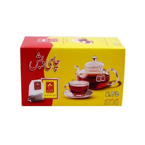 چای کیسه ای چای دبش بسته 25 عددی