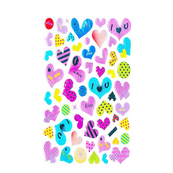 استیکر دیواری کودک طرح قلب و عشق مدل st 222