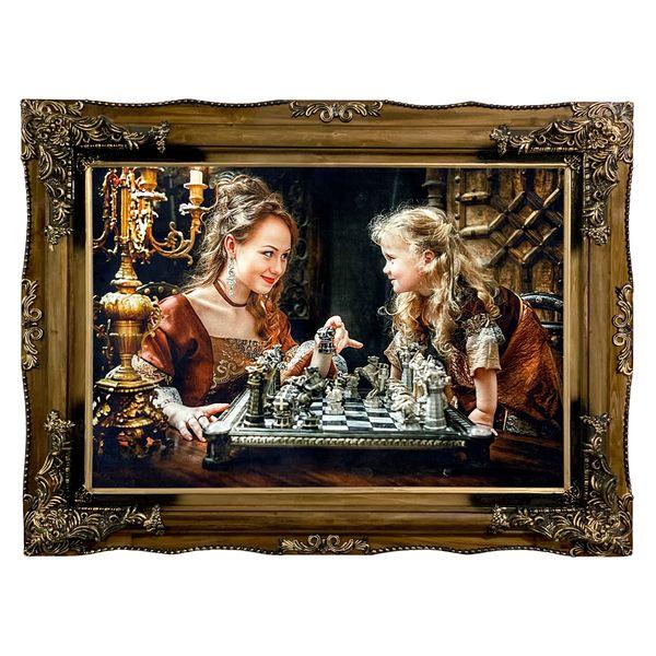 تابلو فرش ماشینی مدل شطرنج کد 7427