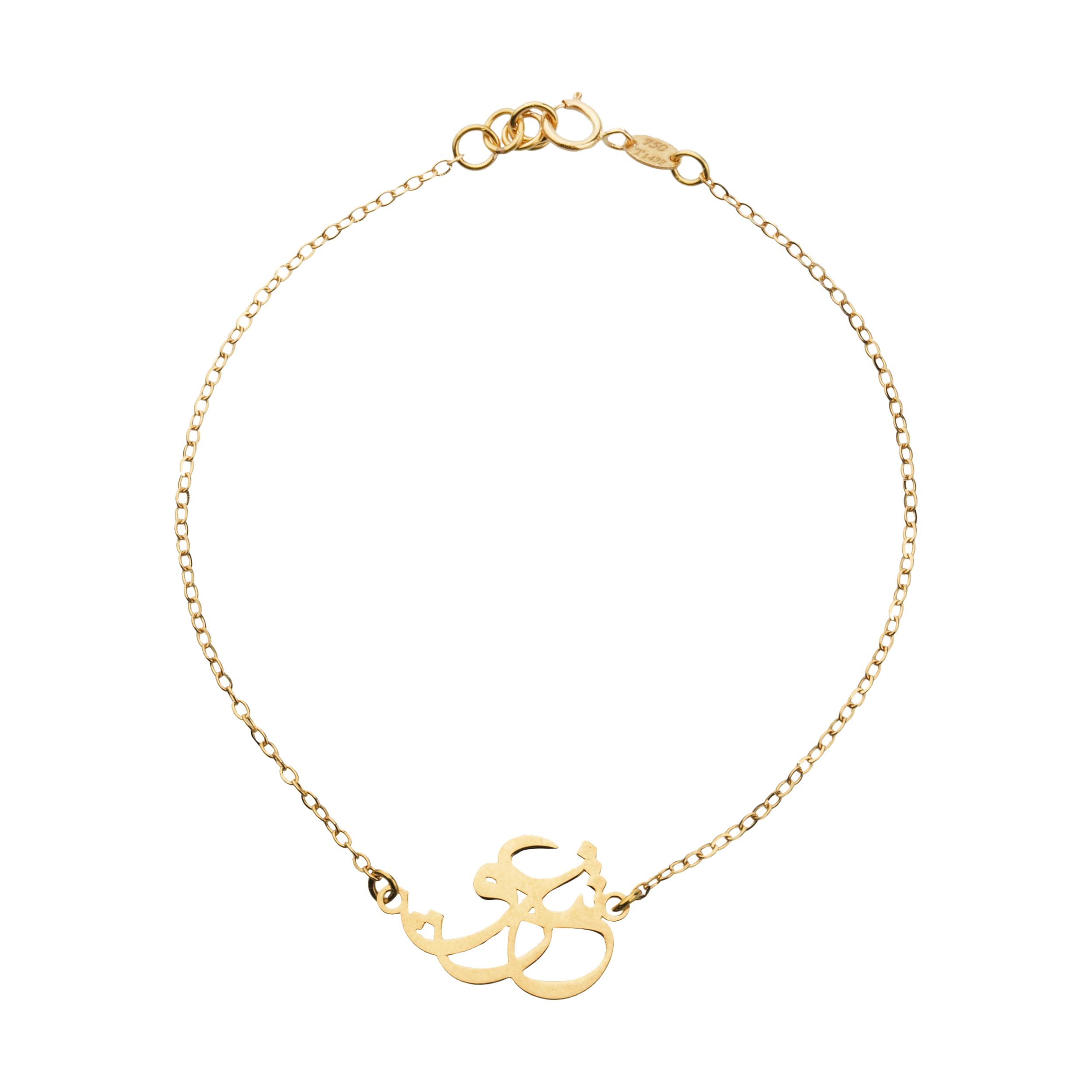 دستبند طلا 18 عیار زنانه میو گلد مدل GD606