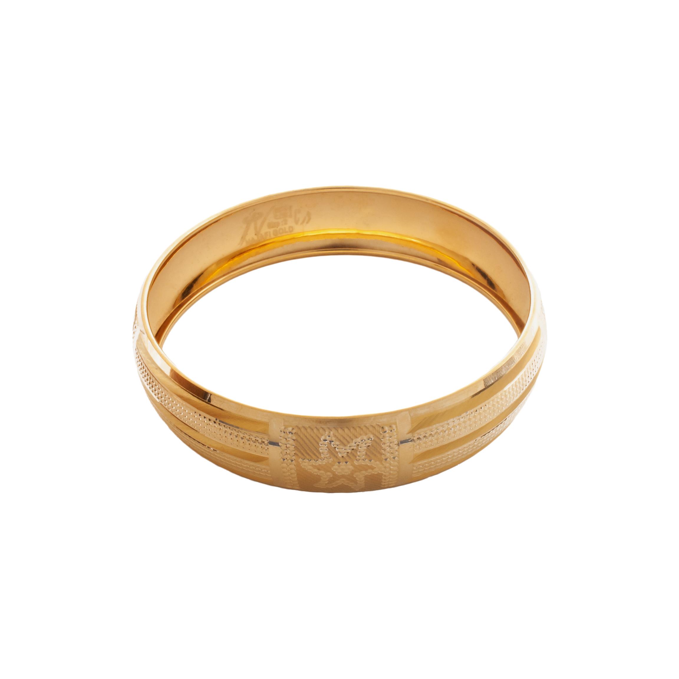 النگو طلا ۱۸ عیار زنانه دُرج مدل VB06-2