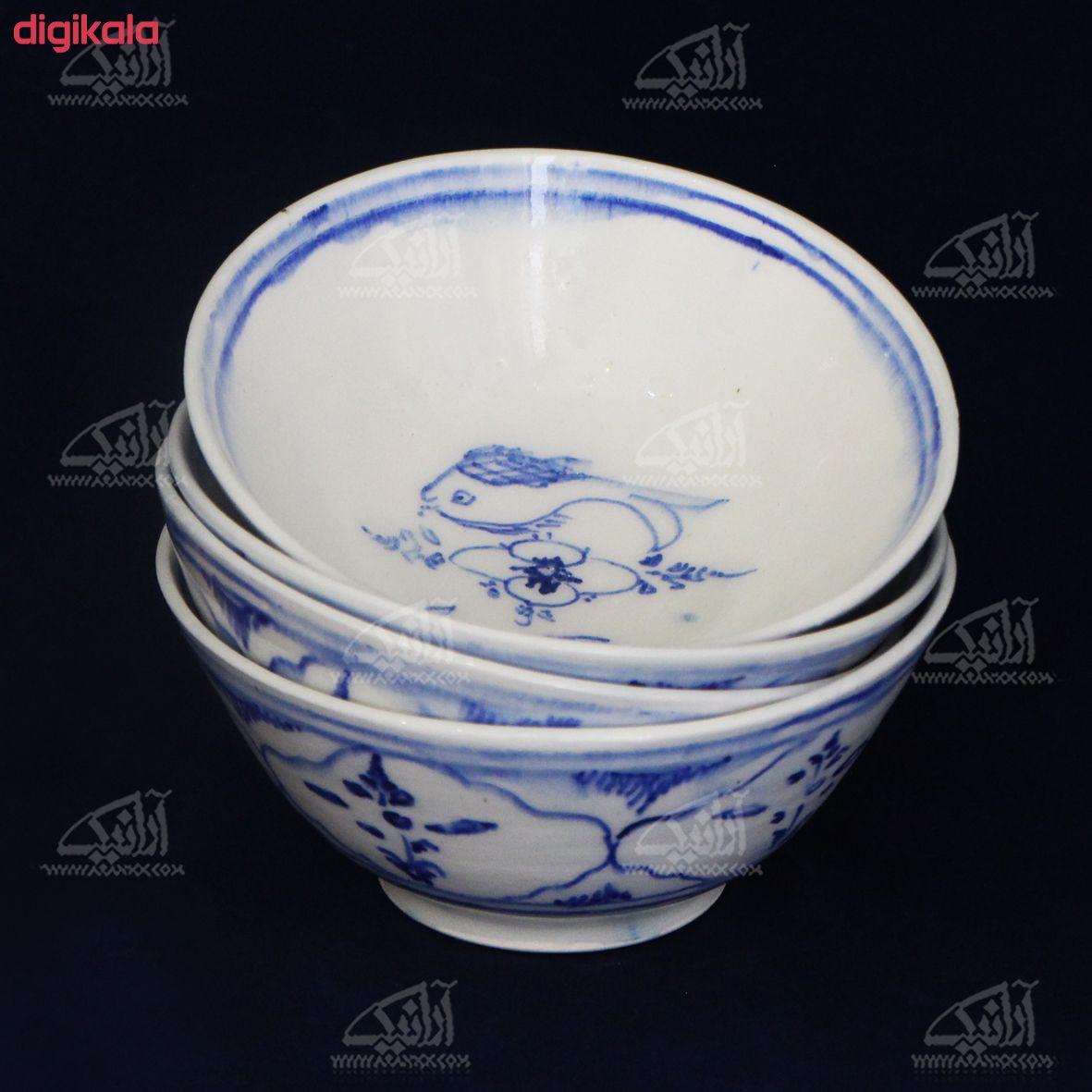 کاسه بشقاب سفالی نقاشی زیر لعابی    رنگ سفید  طرح ماهی  مدل 1003700008 main 1 15