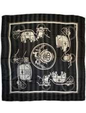 روسری زنانه کوکو طرح درشکه کد 3952 -  - 2