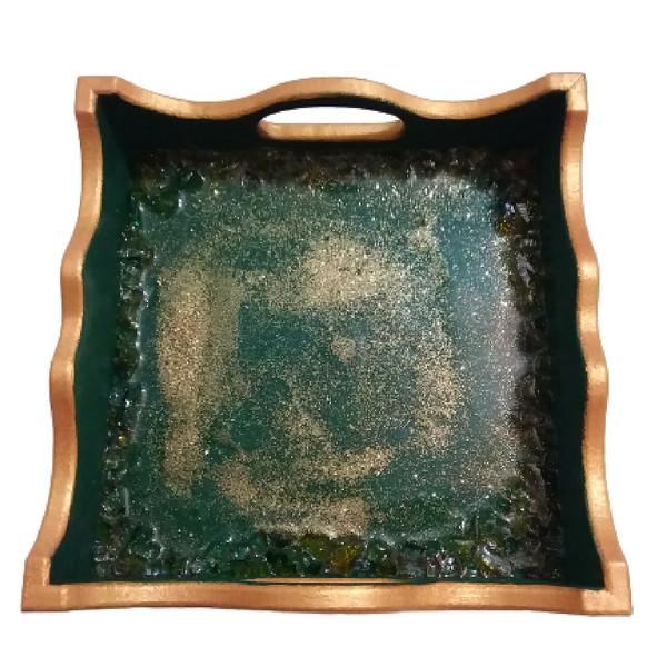 سینی چوبی مدل آسمان طلایی