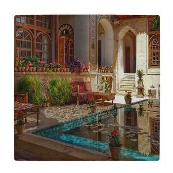 کاشی طرح حوض و حیاط ایرانی  کد wk3545