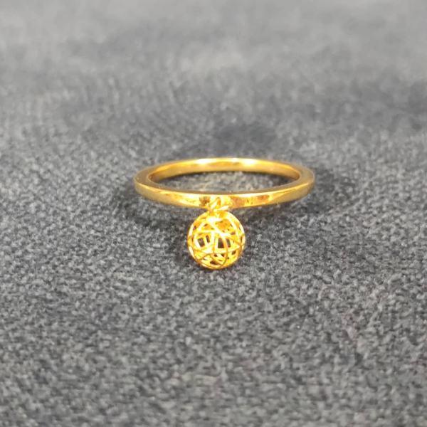 انگشتر طلا 18 عیار زنانه قیراط طرح دایره کد GH262