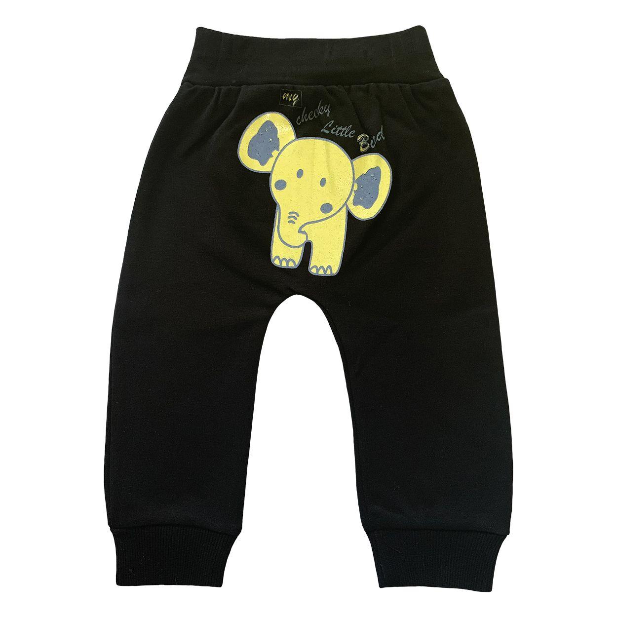 ست تی شرت و شلوار نوزادی طرح فیل کد FF-085  -  - 4