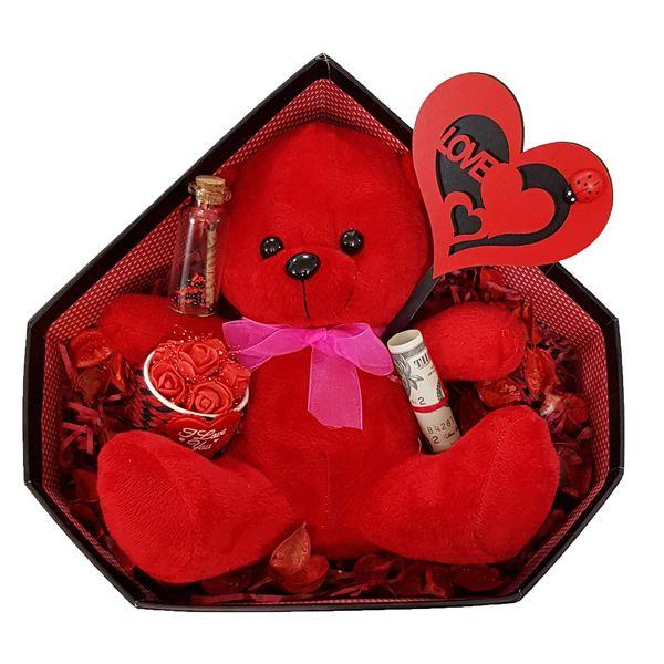 ست هدیه عروسک طرح خرس کد 9541
