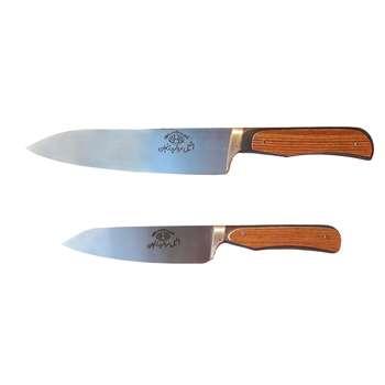 ست چاقوی آشپزخانه 2 پارچه مرواریدزنجان مدل 447