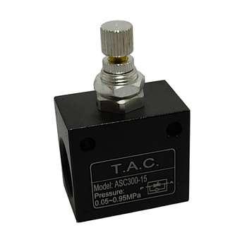فلو کنترل پنوماتیک تی ای سی مدل ASC300-15-1/2
