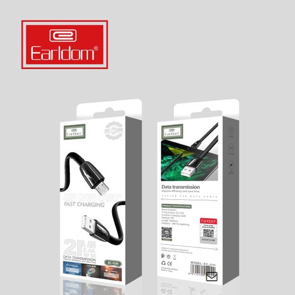 کابل تبدیل USB به microUSB ارلدام مدل EC-110M طول 2 متر